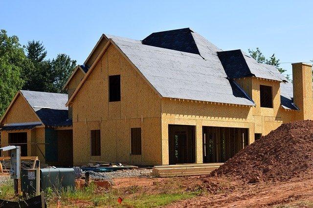 custom home under construction in dallas