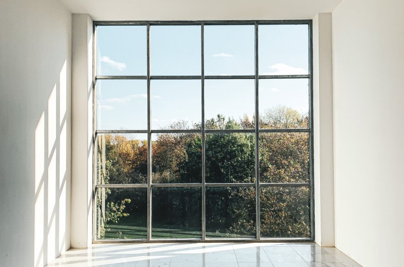 large windows in a custom home in Dallas