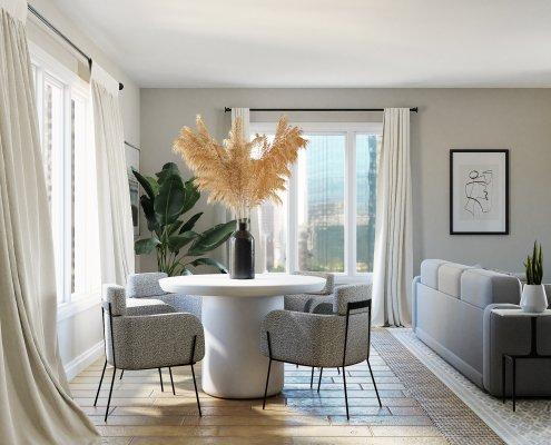 interior of custom home in dallas