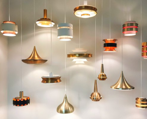 Picture of hanging light fixtures in a custom home in dallas